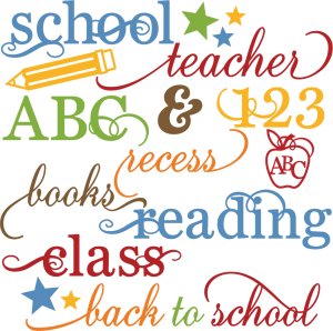 School Words Set SVG files for scrapbooking school svg cut files free svgs school svgs scal files