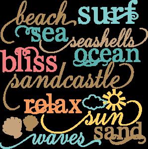 Beach Words Set SVG cut files beach svg files sun svg cuts free svgs free svg cuts free scal files