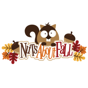 Nuts About Fall SVG scrapbook title fall svg files squirrel svg file autumn svg cuts scal files