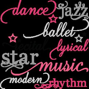 Dance Words Set SVG scrapbook title dance svg files dance cut files free svgs free svg cuts
