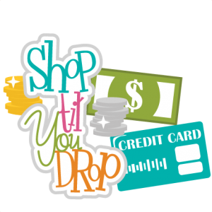 Shop Til You Drop SVG scrapbook title money svg files cash svgs credit card svg cut files