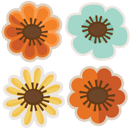 assorted fall flowers svg cut files flower scal files free We Miss You Clip Art Miss You Co-Worker Clip Art