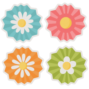 Assorted Flowers SVG cut files flower scal files free scut files free svgs for scrapbooking