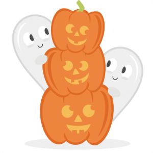 Pumpkins With Ghosts SVG cut files for scrapbooking halloween svg files free svgs fall svg cut files