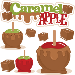 Caramel Apple SVG cut file caramel apple cutting file fall acal files fall scut file free svg cuts