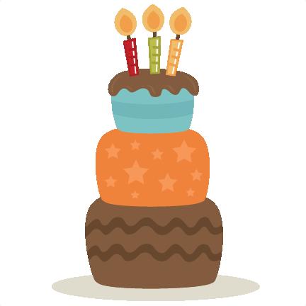 Birthday Cake SVG cut file for cutting machines birthday ...