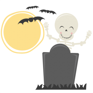 Cute Skeleton SVG cut file halloween svg cut files halloweeen scal cutting files free svg cuts