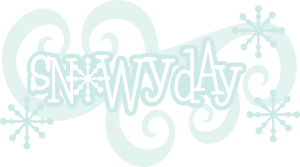 Snowy Day SVG scrapbook title snow svg files snowflake svg cut file winter svgs free svg cuts