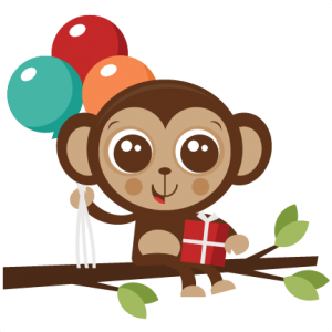 Birthday Monkey SVG cut file birthday svg files birthday svg cutting files free svg cuts