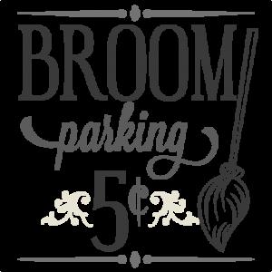 Broom Parking Sign SVG cutting file halloween svg cutting file halloween vinyl cut files