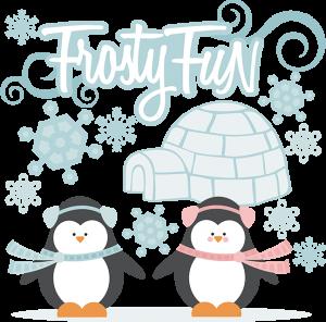Frosty Fun SVG cutting files snow svg files winter svg cut files penguin svg files cute clipart