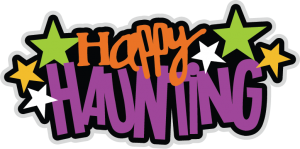 Happy Haunting SVG scrapbook title halloween svg scrapbook title halloween svg cuts