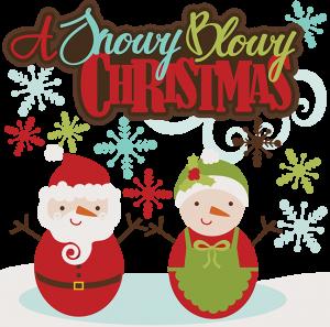 A Snowy Blowy Christmas SVG cutting files santa svg cut files snowman svg cuts free svgs