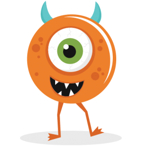 One-Eyed Monster svg cut file for cutting machines cute clipart free svg cuts halloween svg files