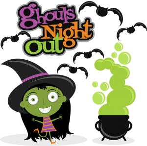 Ghouls Night Out SVG scrapbook cuts witch cut file witch svg file halloween svgs free svgs