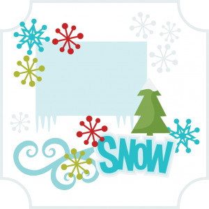 Snow 1 Page SVG scrapbook layout winter svg cut files winter scal files snow scrapbook page