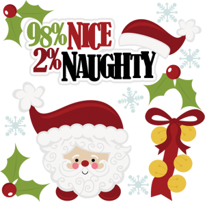 98% Nice 2% Naughty SVG scrapbook cut files christmas svg files free christmas svg cuts