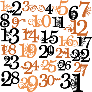 Halloween Numbers SVG cutting files halloween svg cuts free svg files free svg cuts