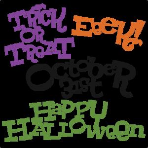 Halloween Titles SVG cut files halloween svg scrapbook title halloween svg titles free svg cuts