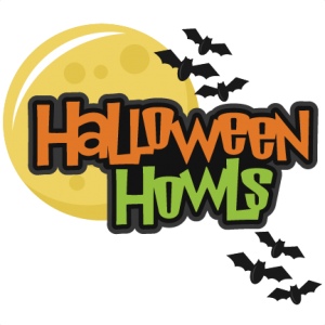 Halloween Howls Set SVG scrapbook title spiderweb svg cut file halloween svg cuts free svgs