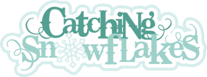 Catching Snowflakes SVG scrapbook title snow svg files winter svg cuts