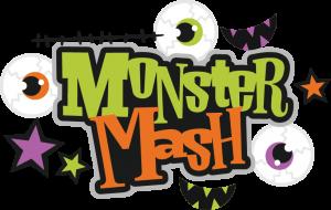 Monster Mash SVG scrapbook title monster svg cut file halloween svg files