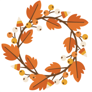 Fall Wreath SVG cutting file for electronic cutting machines fall svg cuts free svg files