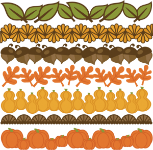 Thanksgiving Borders Set SVG cut files for scrapbooking thanksgiving words clipart  free svg cuts