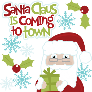 Santa Claus Is Coming To Town SVG cut files for scrapbooking santa svg cut files free svgs