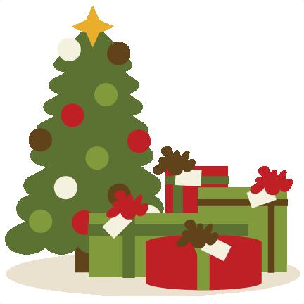 Large Presents Under Tree