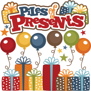 Piles Of Presents SVG cutting files birthday svg files birthday svg cuts for scrapbooking