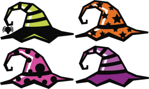 Witch Hat Set SVG cut file halloween svg cut files halloweeen scal cutting files free svg cuts