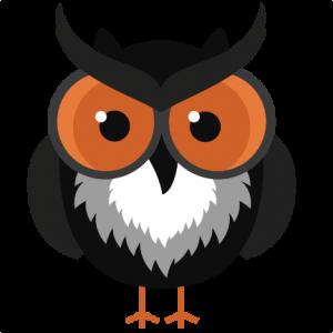 Black Halloween Owl SVG cutting files halloween svg cuts owl svg cutting files cute clipart