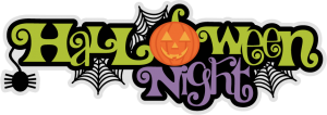 Halloween Night Title SVG scrapbook title spiderweb svg cut file halloween svg cuts free svgs