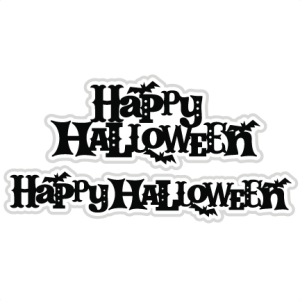 Happy Halloween SVG scrapbook titles cutting files halloween svg cuts free svg files free svg cuts