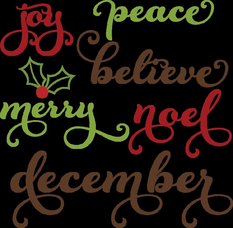 word clip art christmas - photo #26