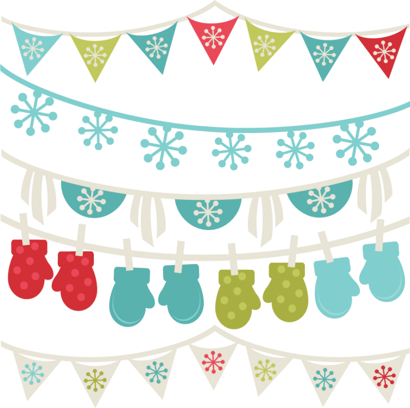 Winter Banners SVG winter svg cut files winter svg cuts