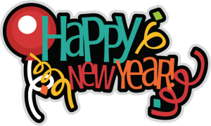 Happy New Year SVG scrapbook title