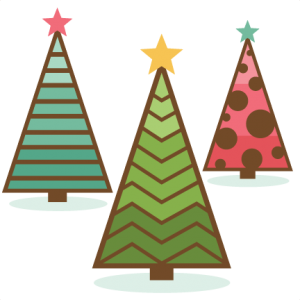 Retro Christmas Trees SVG cutting files for scrapbooking christmas svg cut files free svgs
