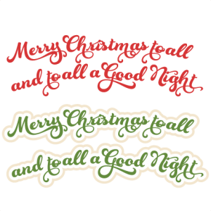 Merry Christmas To All SVG cutting files for scrapbooking christmas svg scrapbook title