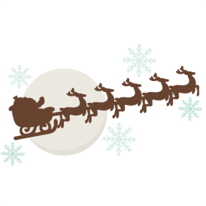 Reindeer Pulling Sleigh SVG cutting files free svg cuts christmas svg files