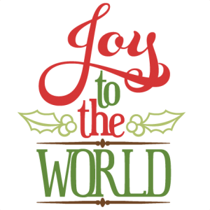 Joy To The World SVG cutting files for scrapbooks