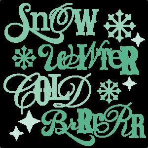 Winter Sentiments SVG winter svg cut files winter svg cuts