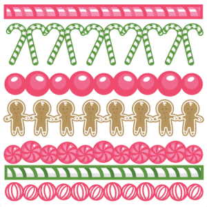 Christmas Candy Borders SVG cutting files christmas svg cuts christmas svg cut files