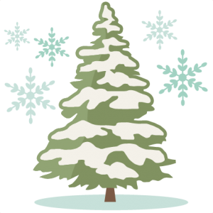 Winter Pine Tree SVG cutting file winter svg cuts winter svg cut file
