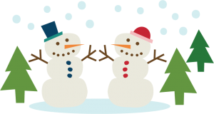Snowmen Couple SVG cutting file snowman svg cut winter svg cut files for scrapbooking
