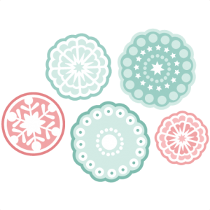 Funky Snowflake SVG cutting set winter svg cutting files