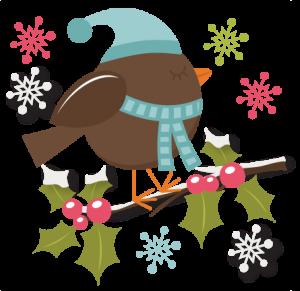 Winter Bird SVG cutting file christmas svg files