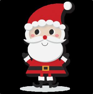 Santa SVG cutting file santa svt cut file for scrapbooking cute santa clipart cute clip art