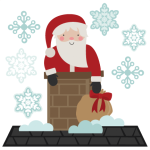 Santa SVG cutting file santa svt cut file for scrapbooking cute santa clipart cute clip art